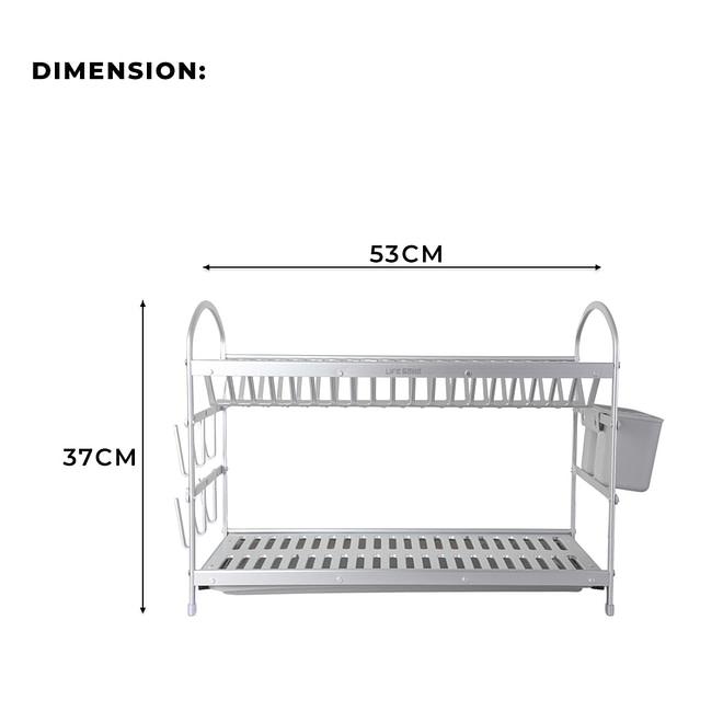 2 Tier Aluminium Dish Rack [DSH-13]