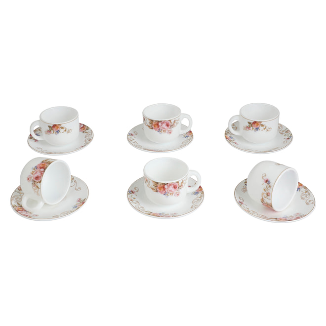 Life Smile Opalware Coffee Cup Set