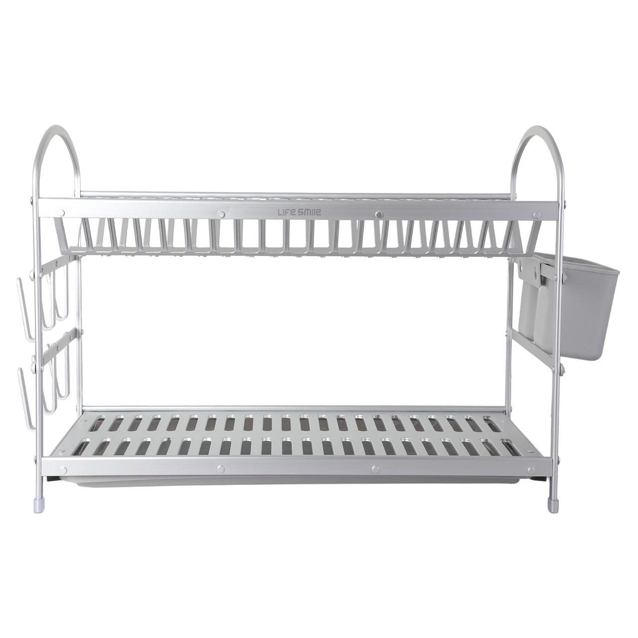 Life Smile 2 Tier Aluminium Dish Rack