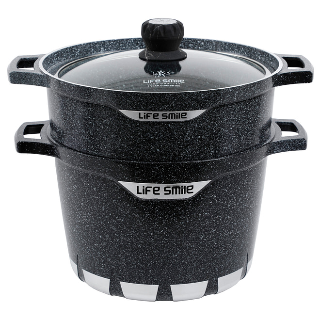 Life Smile Stock Pot with Steam Pot