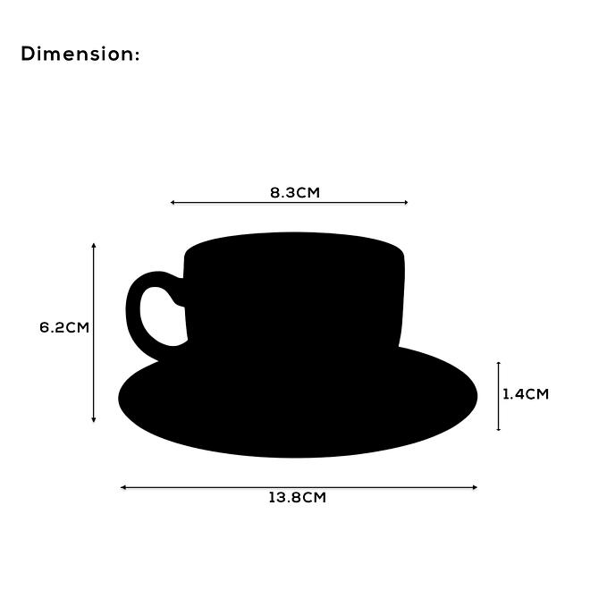 Opalware Coffee Cup Set [OP-12CU-7]