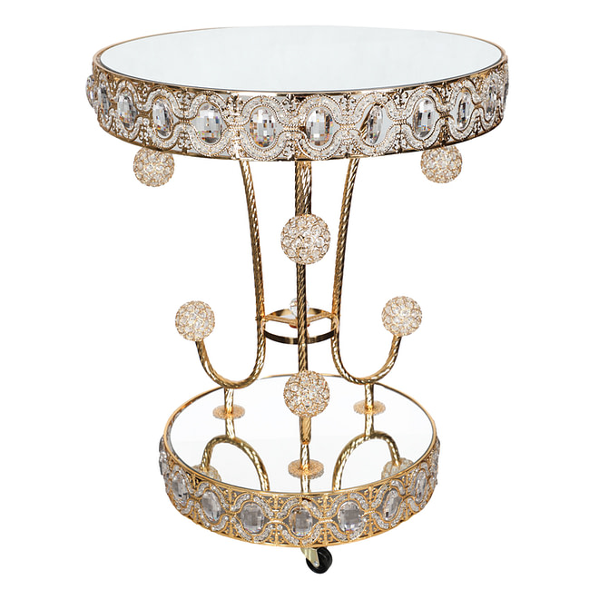 Life Smile Golden Serving Table
