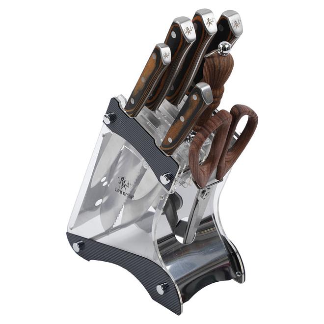 Life Smile 8PCS Stainless Steel Knife Set