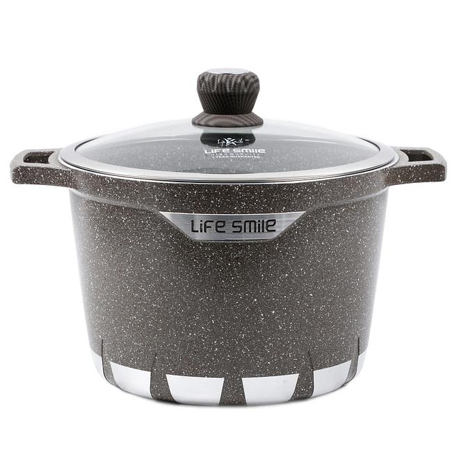 Life smile Stock Pot with Granite Coating 28CM