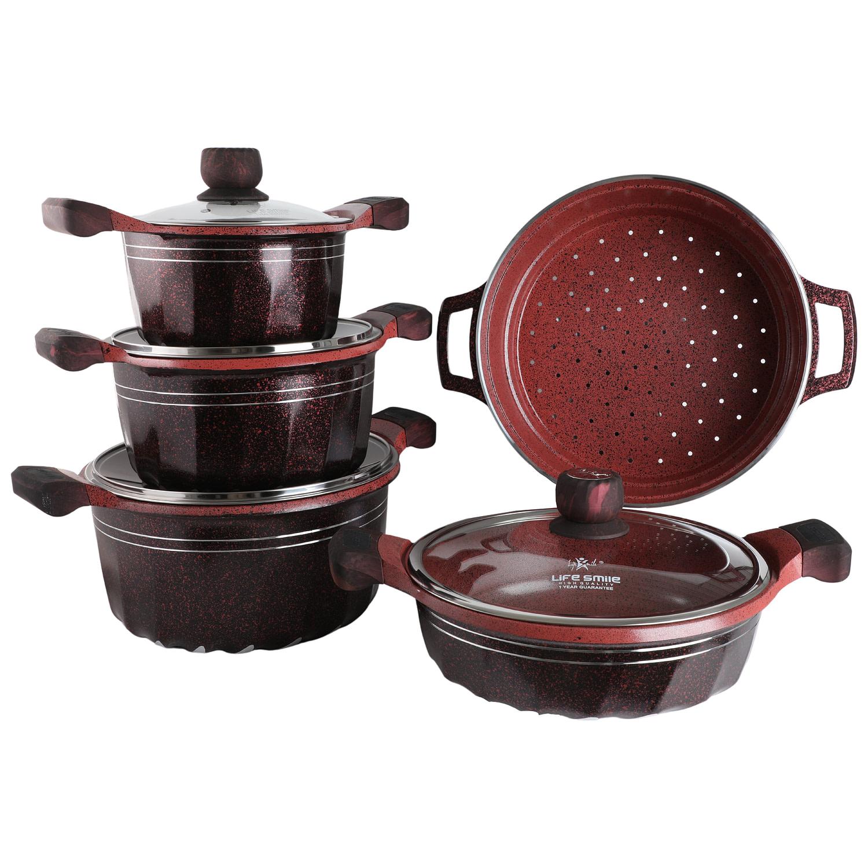 Life Smile 9PCS Cookware Set