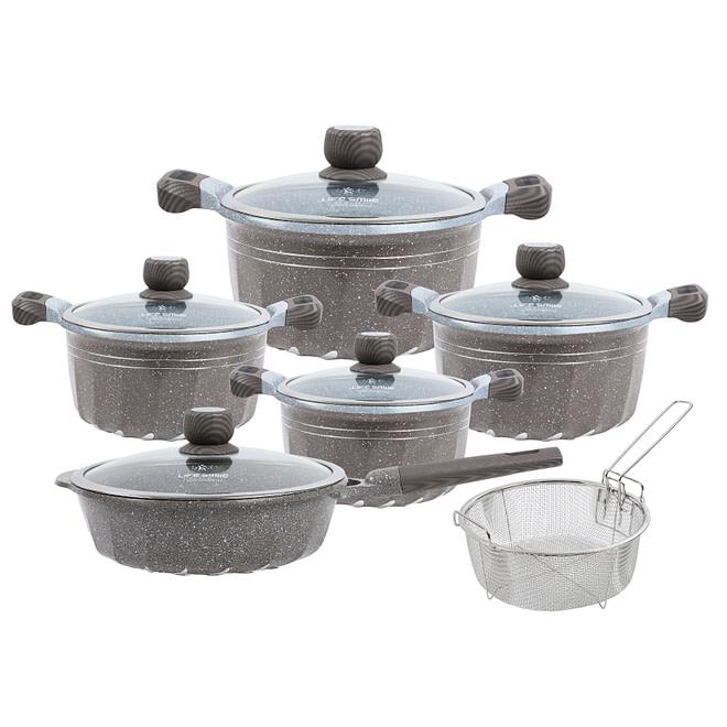 life smile 11PCS Cookware Set