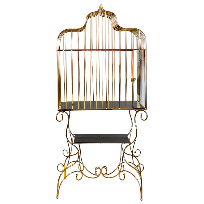 Life Smile Golden Serving Cage